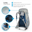 Osprey Levity 45 Parallax Backpack silver
