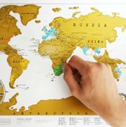 Stírací mapa Scratch Map ORIGINÁL