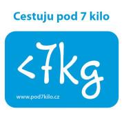 Samolepka Pod 7 kilo, 2 g