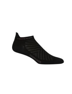 Ponožky Icebreaker Dámské Run+ Micro Ultralight Cushion black