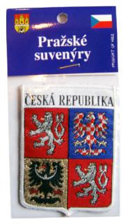 Nášivka znak ČR bílý