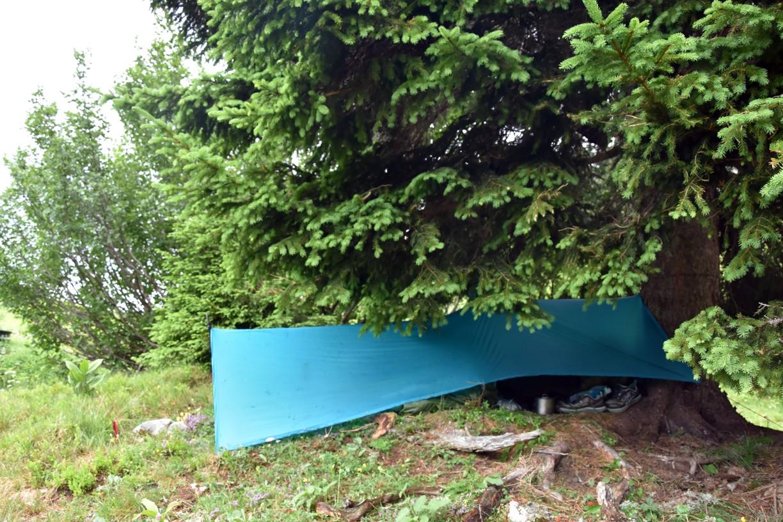 Přístřešek pončo tarp